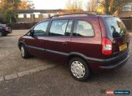 2004 Vauxhall Zafira 2.0DTI 16V Design LOW MILEAGE, FULL MOT for Sale