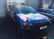 2002 Blue E53 BMW X5 4.6 Petrol Auto 5 Door Rally Car for Sale