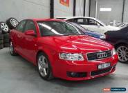 2005 Audi A4 B6 1.8T Red Automatic A Sedan for Sale