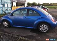 2002 VOLKSWAGEN BEETLE BLUE,2.0 PETROL,SPARES OR REPAIR,PROJECT for Sale