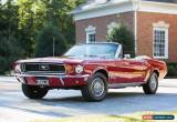Classic 1968 Ford Mustang 2D convertible for Sale