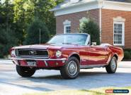 1968 Ford Mustang 2D convertible for Sale