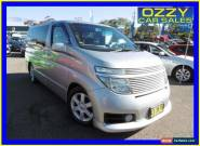 2003 Nissan Elgrand HIGHWAY STAR Silver Automatic A Mini Bus for Sale