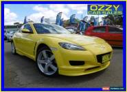 2003 Mazda RX-8 Yellow Manual 6sp M Coupe for Sale