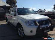 2012 Nissan Navara D40 MY12 ST (4x4) White Automatic 5sp A Dual Cab Pick-up for Sale