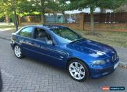 2002 BMW 320 TD SE COMPACT BLUE Manual for Sale