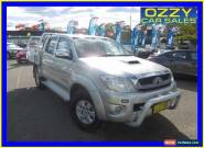 2010 Toyota Hilux KUN26R 09 Upgrade SR5 (4x4) Silver Automatic 4sp A for Sale