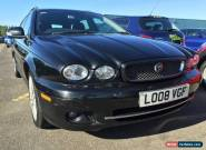 2008 JAGUAR X-TYPE SPORT ESTATE BLACK NEW MODEL 1/2 LEATHER *SPARES OR REPAIRS* for Sale