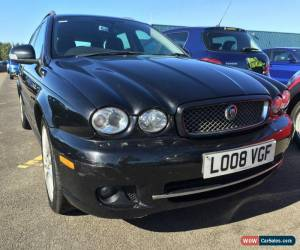 Classic 2008 JAGUAR X-TYPE SPORT ESTATE BLACK NEW MODEL 1/2 LEATHER *SPARES OR REPAIRS* for Sale
