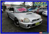Classic 2001 Subaru Impreza MY01 WRX (AWD) Silver Manual 5sp M Sedan for Sale
