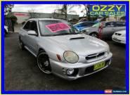 2001 Subaru Impreza MY01 WRX (AWD) Silver Manual 5sp M Sedan for Sale
