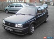 VW Volkswagen Golf MK 3 1.8-1995 - Green - Project/Spares or Repairs RUNS+DRIVES for Sale