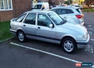 Ford Sierra 1.6 Azura Silver. 1992 With MOT - June 2017 Stainless Exhaust for Sale