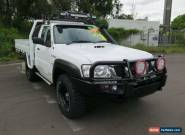 2012 Nissan Patrol GU 6 Series II ST White Manual 5sp M 2D CAB CHASSIS for Sale