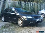 2002 VAUXHALL ASTRA SXI 16V BLACK for Sale