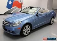 2012 Mercedes-Benz E-Class Base Convertible 2-Door for Sale