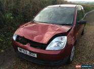 2003 FORD FIESTA FINESSE 1242CC 16V - SPARES OR REPAIRS - RUNS AND DRIVES for Sale