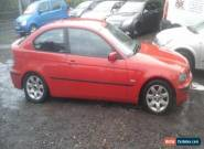 bmw 320 d compact spares or repair for Sale