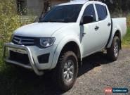 2011 MITSUBISHI TRITON MN GL-R DUAL CAB 4X4 2.5 TURBO DIESEL DAMAGED REPAIRABLE for Sale