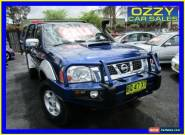 2008 Nissan Navara D22 ST-R (4x4) Blue Manual 5sp M Dual Cab Pick-up for Sale