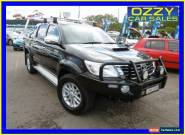 2012 Toyota Hilux KUN26R MY12 SR5 (4x4) Black Automatic 4sp A Dual Cab Pick-up for Sale