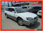 2003 Subaru Outback B3A MY03 Luxury White Manual 5sp M Wagon for Sale