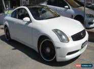 2003 Nissan Skyline V35 350GT White Automatic A Coupe for Sale