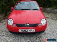 2001 'X' VW Lupo 1.0 E 3 door, red, 94750 miles ** for spares or repair ** for Sale