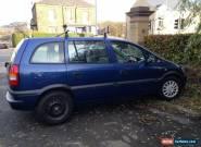 2002 VAUXHALL ZAFIRA 16V CLUB BLUE for Sale
