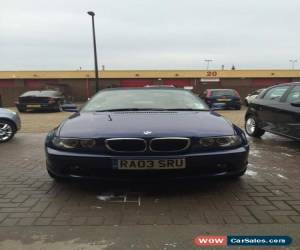 Classic 2003 BMW 318 CI BLUE WITH CREAM LEATHER, PARKING SENSORS for Sale