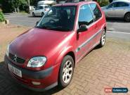 CITROEN SAXO VTR 1.6 IN RED 3 DOORS MOT APRIL 2016  for Sale