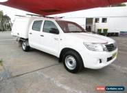 2011 Toyota Hilux GGN15R MY11 Upgrade SR White Automatic 5sp A Dual Cab Pick-up for Sale