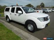 2012 Nissan Navara D40 MY12 RX (4x4) White Automatic 5sp A Dual Cab Pick-up for Sale