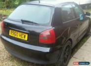 1998 AUDI A3 1.8 TURBO SPORT BLACK 3 DOOR LEATHER SPARES OR REPAIRS NEEDS CLUTCH for Sale