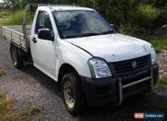 2004 Holden Rodeo 2.4L Petrol  Single Cab Repairable Light Damaged Drives for Sale