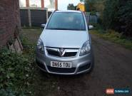 2006 VAUXHALL ZAFIRA CLUB SILVER SPARES OR REPAIRS ENGINE NO GOOD  for Sale