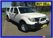 2007 Nissan Navara D40 RX (4x4) White Manual 6sp M Dual Cab Pick-up for Sale