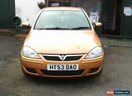 2003 VAUXHALL CORSA DESIGN 16V GOLD for Sale