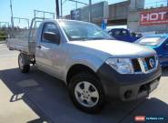 2008 Nissan Navara D40 RX Silver Manual 6sp M 2D Cab Chassis for Sale