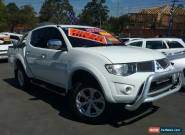 2010 Mitsubishi Triton MN MY11 GLX-R (4x4) White Automatic 5sp A for Sale