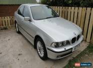2000 BMW 530D SE SILVER MANUAL, SPAIRS OR REPAIR SUNROOF MODEL NEEDS TURBO for Sale
