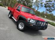 2009 Nissan Patrol Coil Over DX Red Manual 5sp M Cab Chassis for Sale
