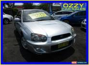2004 Subaru Impreza MY04 RS (AWD) Silver Manual 5sp M Sedan for Sale