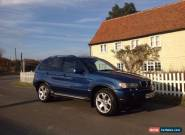 Blue BMW X5 2002 3.0 Petrol Automatic, 134K miles, MOT Till September 2017 for Sale