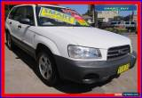 Classic 2002 Subaru Forester MY03 X White Manual 5sp M Wagon for Sale