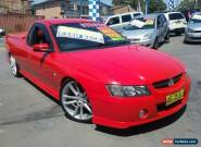 2002 Holden Commodore VY SS Red Manual 6sp M Utility for Sale