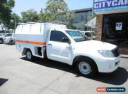 2010 Toyota Hilux KUN16R 09 Upgrade SR White Manual 5sp M Cab Chassis for Sale