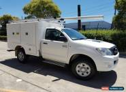 2010 Toyota Hilux KUN26R MY11 Upgrade SR (4x4) White Manual 5sp M Cab Chassis for Sale