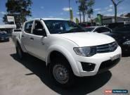 2012 Mitsubishi Triton MN MY12 GLX White Automatic 4sp A 4D UTILITY for Sale