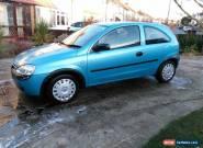 2002 VAUXHALL CORSA CLUB 16V BLUE for Sale